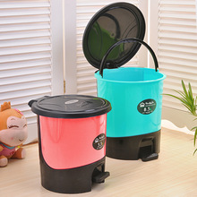 QWZ 1016 hot sale plastic mini trash bin with lid trash can separating small dustbin