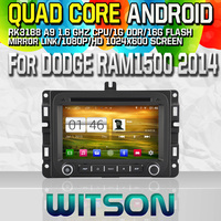Witson S160 Android 4.4 Car DVD GPS For DODGE RAM1500 2014/JEEP RENEGADE 2015 with Quad Core Rockchip 3188 1080P 16g ROM WiFi