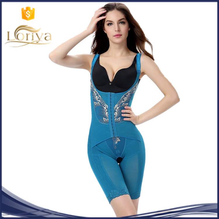 High-End UK European Women Gold Lace Butterfly Powernet Quick Tummy Reducer Shapewear Slimming Bodysuit