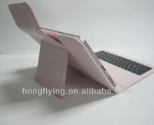 2013 latest bluetooth keyboard leather case for table pc