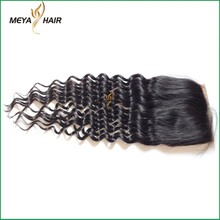 List of Indian cuticle hair, real mink 4*4 lace closure piece deep wave for blace women