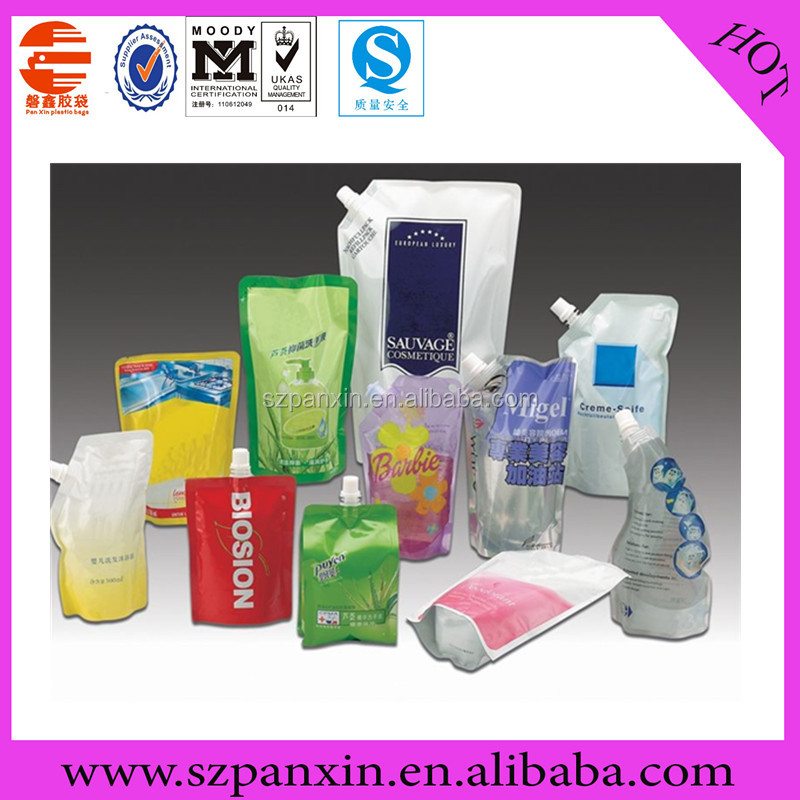 Good price plastic spout pouch/plastic jug with spout/stand up plastic packaging pouch