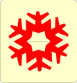 Wooden scrapbooking die tys031 snow flake