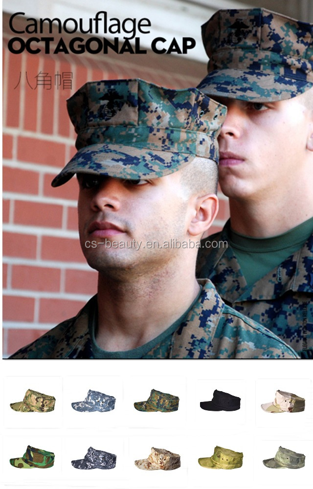 10 Colors Camo Army Cap, Military Soldier Combat Hat, Outdoor Breathable Camouflage Hat for Men