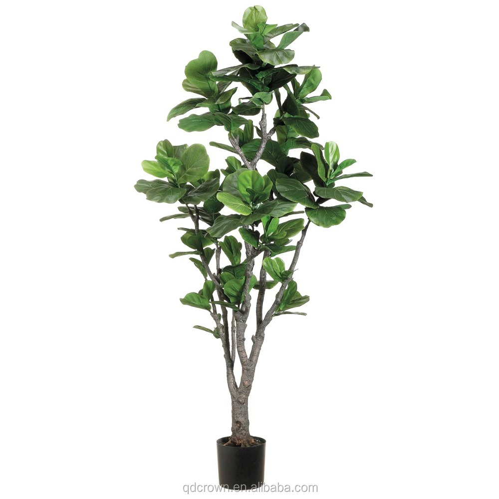 free samples indoor decoration Artificial fiddle leaf tree, wholesale artificial Fiddle leaves tree plant