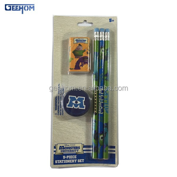 Stationery set from China disney audit factory made stationery item for kids