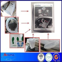 Plastic disposable car inner cover
