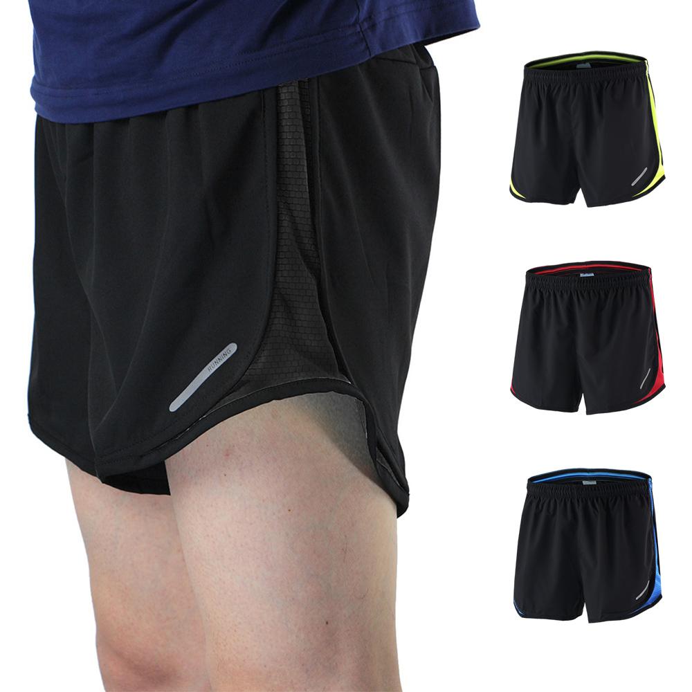 Wholesale Summer Men's Marathon Running Training Shorts Black Dry Fit Shorts