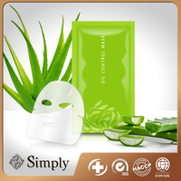 Private Label Service SIMPLY Oil Control Aloe Vera Peel off Beauty Care Mask Sheet