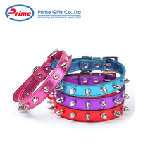 Cheap Price Colorful Pu Leather Spiked Dog Collar