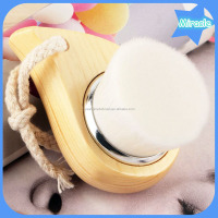 NEW arrival soft bristle wooden facial deep pore cleaning face brush