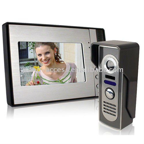7 inch color TFT LCD Handfree Intercom with Aluminum alloy panel