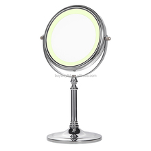 Low price promotion vanity table with lighted mirror makeup mirror