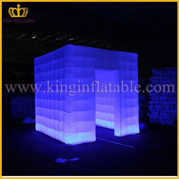 Cheap Foldable LED inflatable Photo Booth Tent, DJ Inflatable Studio Booth