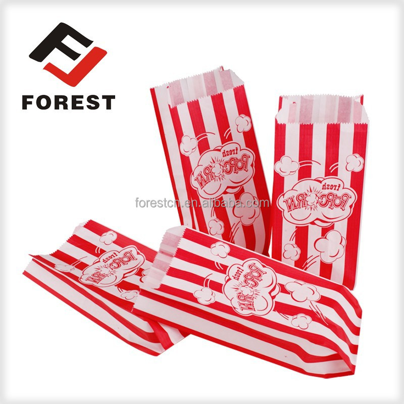 Microwavable popcorn paper bag used for popcorn packaging