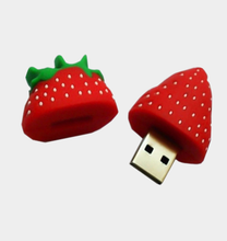 Fruit Cute Cartoon Strawberry Usb Flash Drive 4GB Memory Stick Thumb Drive PVC Material