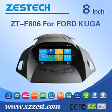 For Ford Kuga 8 inch double din car dvd with gps Mp3 player fm radios audio stereo multimidea support 3G BT DVR SWC