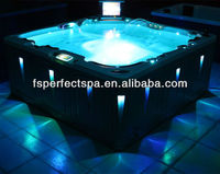 2014 Luxury cheap Whirlpool bathtub LED massage bathtub spa hot tub skirt