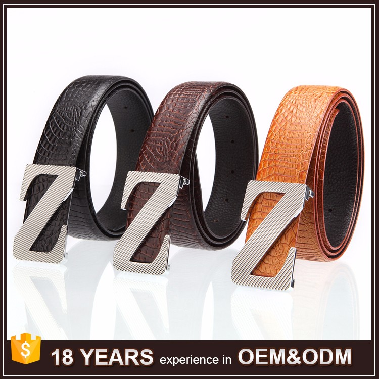 Wholesale Alloy Buckle 3.8cm Mexican Leather Belt for Men Genuine