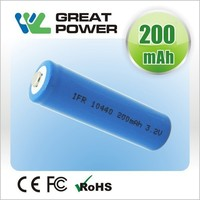 china factory lawn lamp size aaa r03 3.2V 200mAh10440 LiFePo4 battery