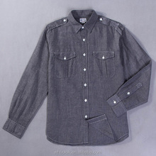 OEM Men's custom heavy cotton shirt yarn dyed oxford shirt slim fit shirt
