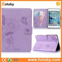 Bulk Wholesale Alibaba Flower Pattern Magnetic Flip Stand TPU+ PU Tablet Leather Cover Case for iPad Mini/ Mini 2 Retina/ Mini 3