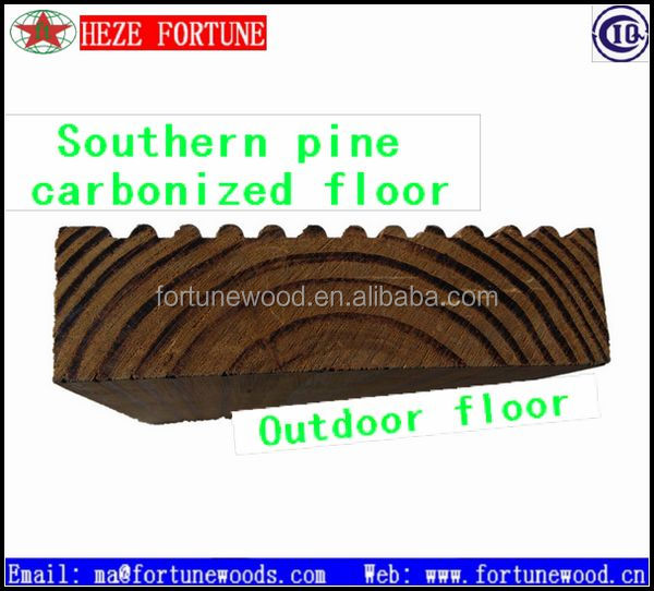 carbonized pine solid wood flooring