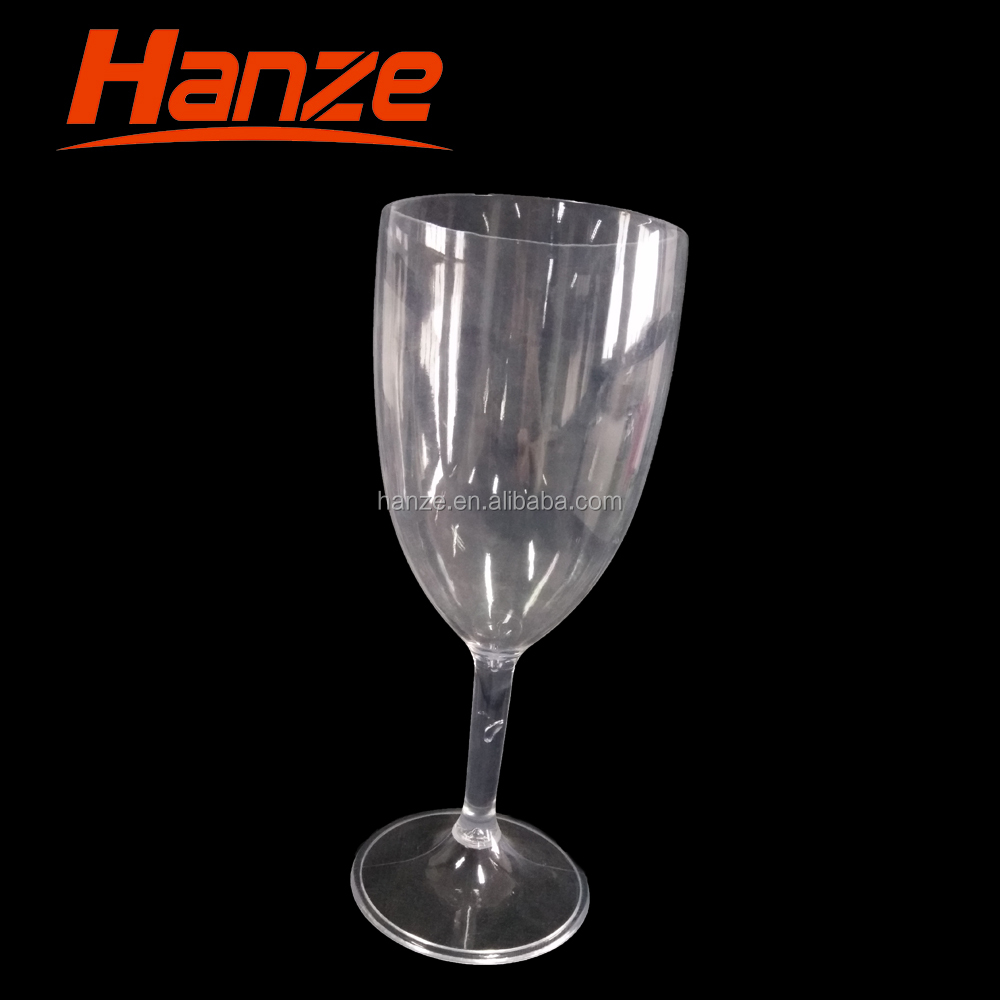 Decorative Reuseable Plastic Goblet Wine Glass