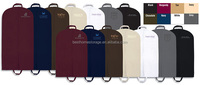 Hot sale Non-woven fabric cloth foldable garment bag suit cover with handle wholesale