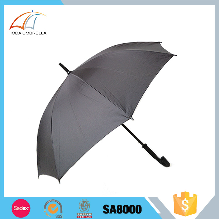 Good quality low price automatic men's business windproof advertising straight umbrella