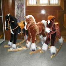 Long hair rocking horse toy & wooden horse toy
