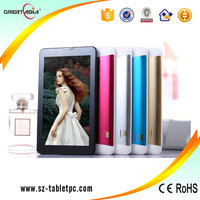 Low price OEM 7 inch android 4.4 3G pc tablets with phone call sim card slot