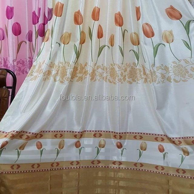 Moq 1 roll Latest Cheap Custom Printed Curtain Designs Blackout Digital Printig Fabric Curtains for home