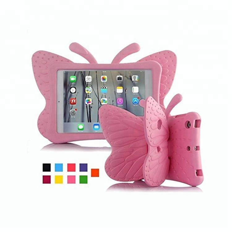 For iPad pro 9.7 inch 2018 Tablets New butterfly Kids Safety Shockproof EVA Stand Cover Case
