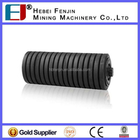 Diameter 159mm Plastic Ball Bearing Impact Roller Idler For Mining Machinery
