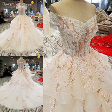 LS00293 off shoulder flower afghan wedding dress styles lace up mother of the bride beach wedding dress