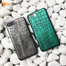 Fashion Crocodile Pattern Genuine Leather Cover Phone Cases For iPhone 6 6s 6p 6sp Case