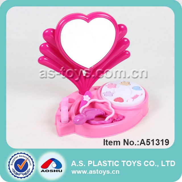 newest product girl mirror plastic mini dressing table toy