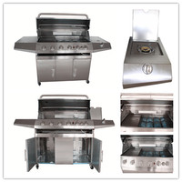 Round Butane Grill / Gas BBQ Grill with 6+1 Burners Gas Smoker Grill