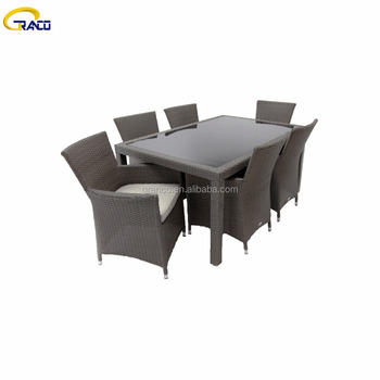garden classics glass top dining table set 6 chairs outdoor furniture