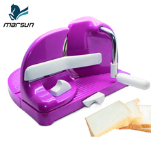 Wholesale Professional Easy Operate Home Used Manual Plastic Adjustable Small Slices Cutting Bakery Toast Bread Slicer Cutter