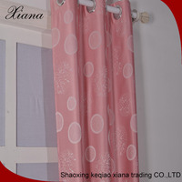 Hot selling jackuard curtain fabric for girl's room,Home designed curtain