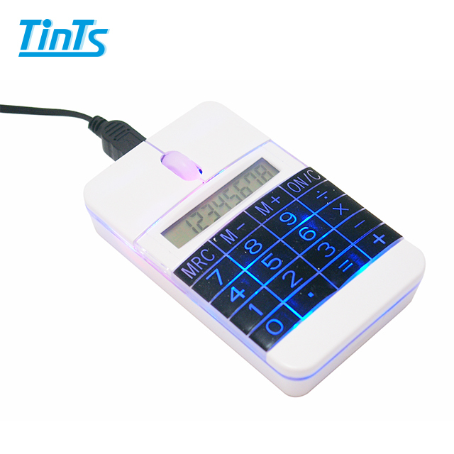 Promotional Calculator Mouse for computer handy led light optical mouse
