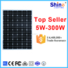 Gread A high quality monocrystal 300w solar panel with IP65 certificate