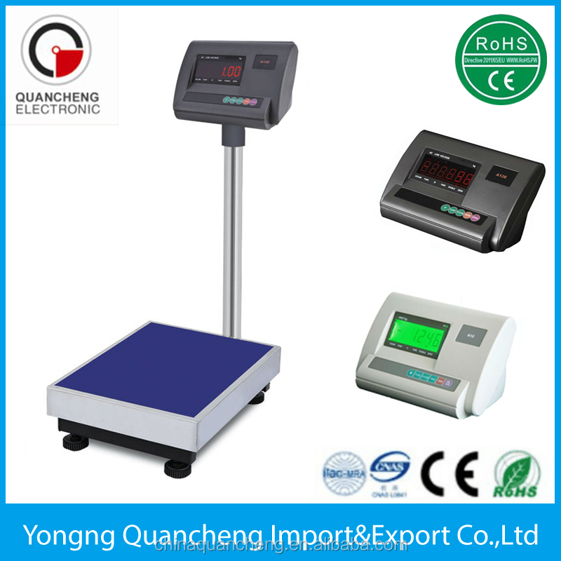 electronic platform scale with waterproof pan a12e weighing indicator