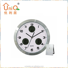Aluminium Modern Home Decor Weather Station Clock