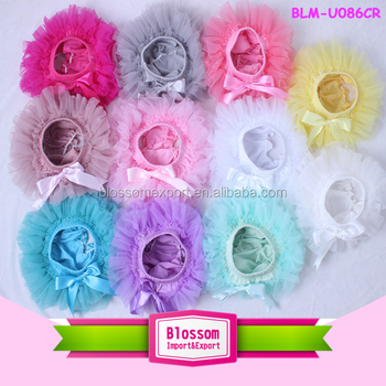 kids 2016 hot sell baby diaper cover baby girl seersucker bubble bloomers frilly knickers chiffon ruffle baby panties bloomer