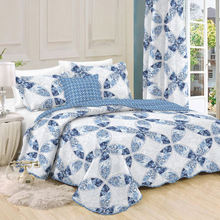 Customed wholesale indian Microfiber printed bedspread quilt