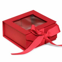 custom factory cardboard gift boxes with clear window