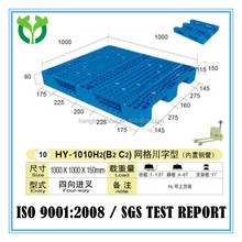 1000X1000 HDPE Gird 3runners plastic pallet for cold storage